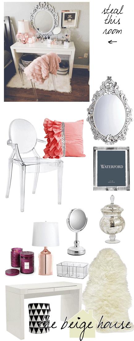 Steal This Room…Girly Vanity